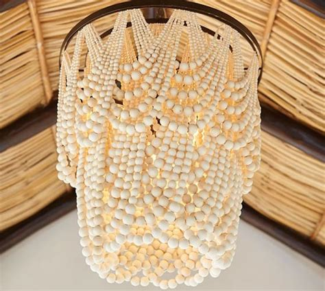 Diy Pearl Chandelier Beaded Chandeliers