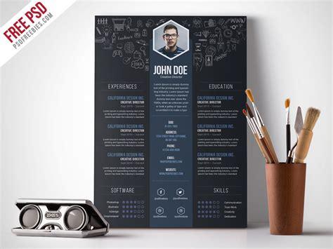 Free Creative Designer Resume Template PSD   PSDFreebies.com