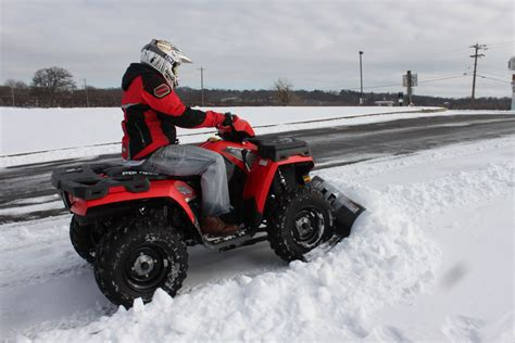 snow plow cycle country bearforce snow plow review 171 atv on demand