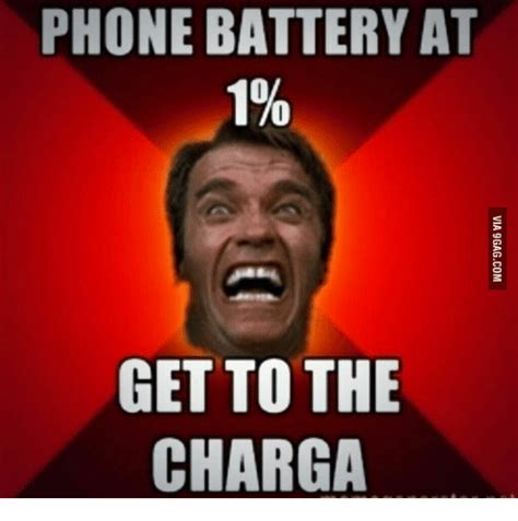 What Is A Meme Photo - phone battery at 1 get to the charga get to the charger