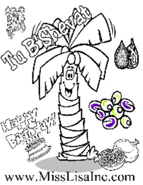 tu bshevat coloring pages sketch coloring page