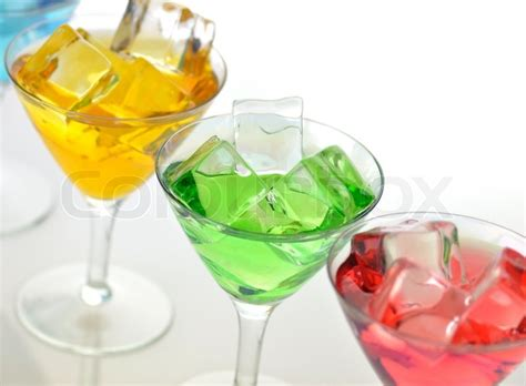 Murah Gelas Cold Drink Glassware Color glasses of colorful cold drinks up stock photo colourbox