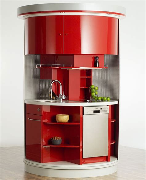 intelligent furniture products high tech circular kitchen revolving circle compact kitchen idesignarch interior