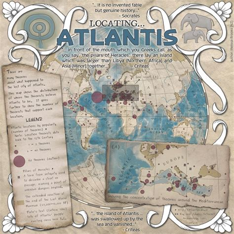 libro atlas of lost cities map showing where theorists believe the lost city of atlantis to be created for the guerrilla