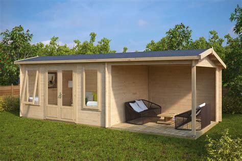 garten kaufen holz gartenhaus mit terrasse d 12m 178 44mm 3x7