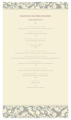 fancy restaurant menu template 1000 images about s day menus on