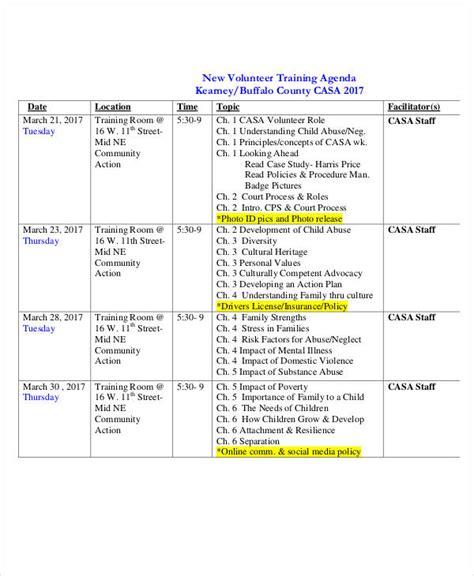 training schedule template word printable online calendar