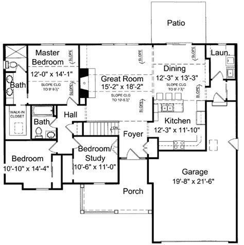 single level floor plans charming one level house plan 39064st 1st floor master