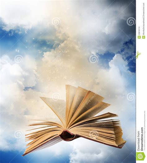 fly magic in your books flying opened magic book stock images image 20816114