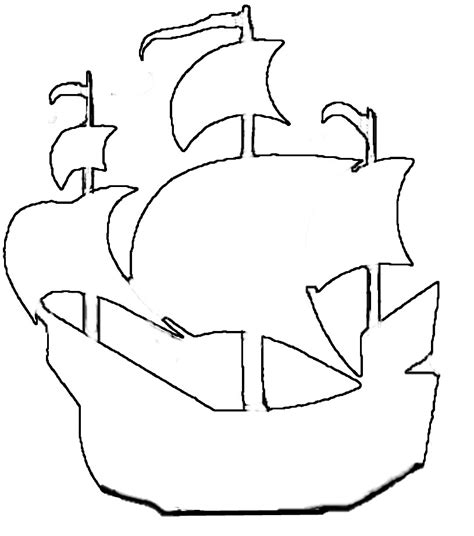 pirate ship cut out template pirate ship outline cliparts co