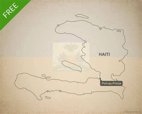 printable map haiti free vector map of haiti outline one stop map