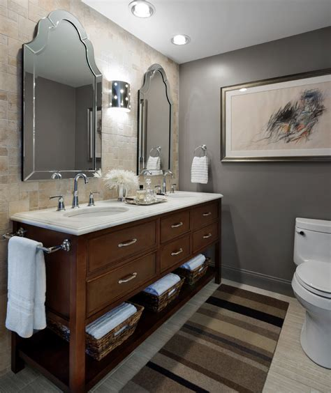 traditional brown and gold guest bathroom with oval mirror extraordinary bedroom vanity with mirror decorating ideas