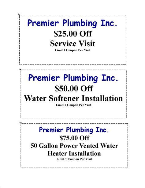 Plumbing Discount Code by Premier Plumbing Coupons Premier Plumbing Inc Service