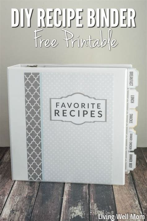 recipe binder templates 25 best ideas about cookbook template on