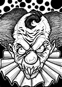 clown sheets scary clown coloring page colowing scary