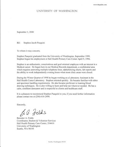 Forest Mba Reviews by 16 Inspirational Personal Recommendation Letter Sle