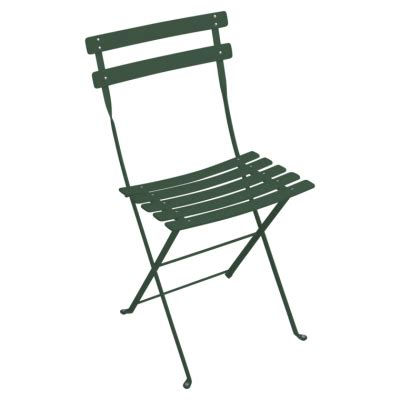 Green Bistro Chairs Fermob Bistro Duraflon Folding Chair Cedar Green Cotton White