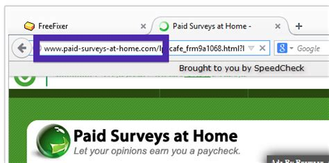 Paid Surveys At Home - remove paid surveys at home com pop up ads caused by adware the freefixer blog