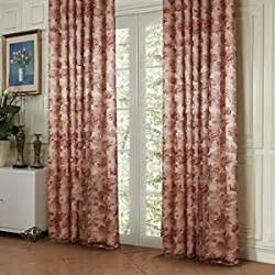 72 Inch Length Curtains Amazon Com Twopages 174 Country Bloom Peony Print Floral
