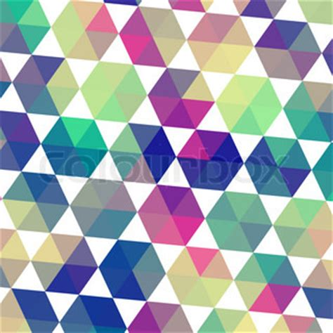 Retro Triangle Pattern retro pattern of geometric shapes triangle colorful