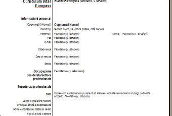 curriculum vitae formato europeo per lavoro resume come compilare correttamente un curriculum vitae paperblog