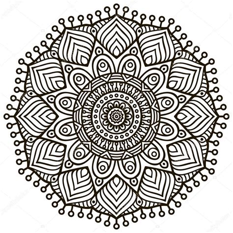 retro lives greyscale coloring book books mandala runde muster ornament vintage dekorative
