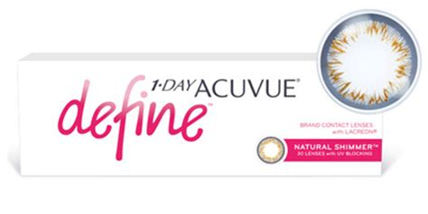 cheap affordable 1 day acuvue define contact lenses with