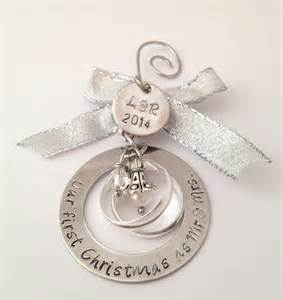 personalized wedding christmas ornament our first by