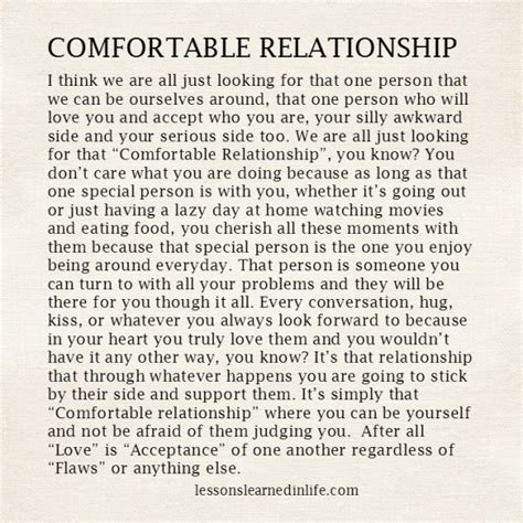 comfortable in relationship lessons learned in lifecomfortable relationship lessons