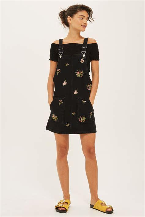 Dress Top Shop moto floral pinafore dress dresses clothing topshop