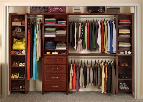 Closet Organizer by Stainless Steel Closet Systems With Wooden Rack And White