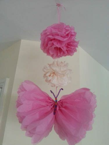 How To Make Tissue Paper Butterflies - wedding butterfly decorations tissue paper pompoms