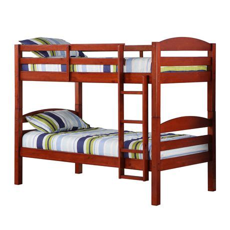 walmart wood bunk beds twin solid wood bunk bed cherry walmart canada