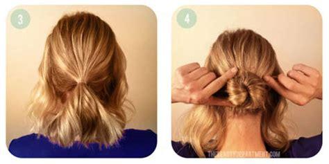 tutorial gaya rambut untuk pesta tutorial hair bun untuk rambut pendek vemale com