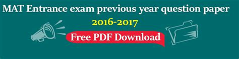Mat For Mba 2017 Date by Mat Previous Year Question Papers Archives