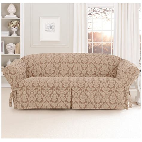 sure fit sectional cover sure fit 174 middleton sofa slipcover 581237 furniture