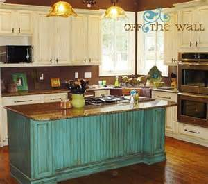 Turquoise Kitchen Island Turquoise Island And Antique White Cabinets Yes