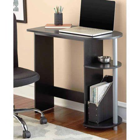 and black computer desk mainstays computer desk black walmart com