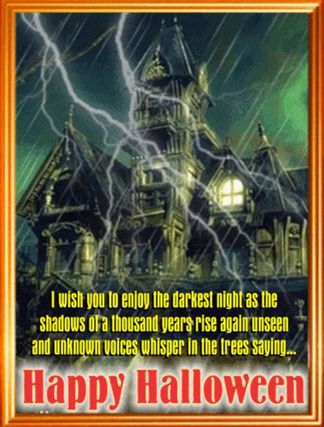 a haunted house ecard for you