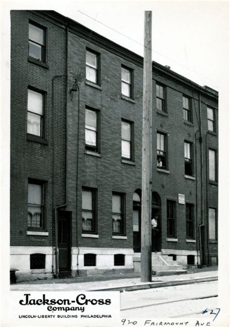 Pictures Of One Story Houses Row Houses Encyclopedia Of Greater Philadelphia