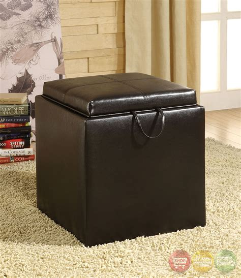 ottoman with flip top tray littleton espresso storage ottoman with flip top tray