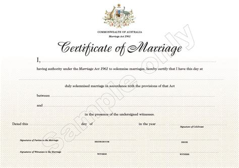 Records Of Marriage Form 15 Marriage Certificate Exle Sle