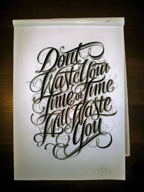 tattoo handwriting typography don t waste time lettering