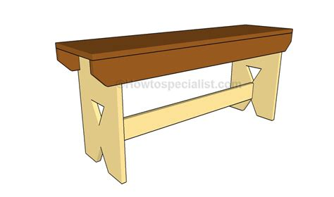 how to make a simple wooden bench how to build a simple bench howtospecialist how to build step by step diy plans