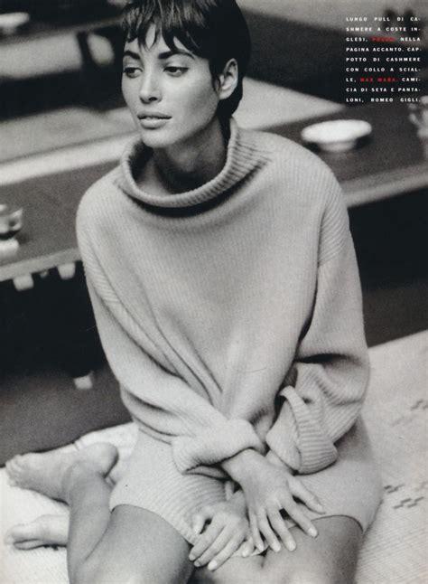 pics of christy turlington when she had short hair vogue italia november 1990 quot italian fashion triumphs in