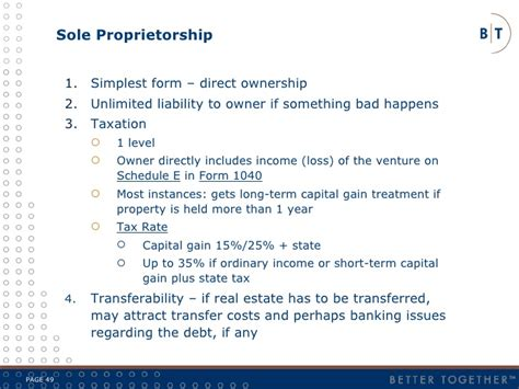 sole proprietorship is the simplest form 2009 aba real estate presentation final