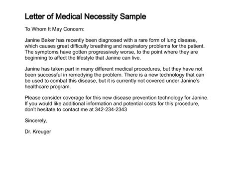 Appeal Letter Not Medically Necessary Letter Of Necessity