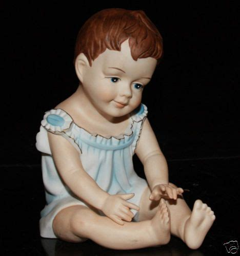 vintage  porcelain baby piano doll figurine germany