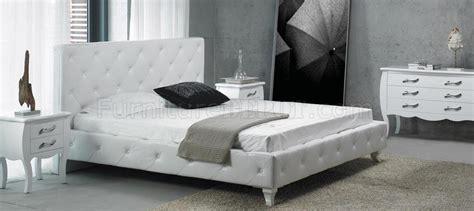 modern leatherette 5 piece bedroom set monte carlo white modern leatherette 5 piece bedroom set monte carlo white