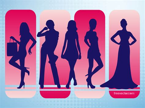 fashion vector silhouettes vector graphics